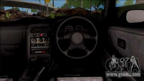 Nissan Skyline R33 for GTA San Andreas inner view
