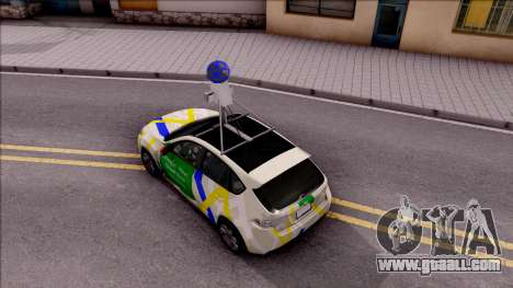 Subaru Impreza Google Street View Car for GTA San Andreas back view