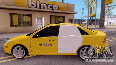 Ford Focus Mk1 Turkish Taxi for GTA San Andreas left view