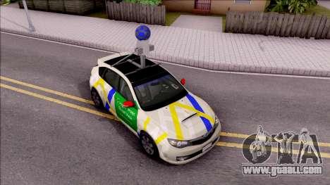 Subaru Impreza Google Street View Car for GTA San Andreas right view