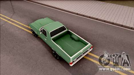 Chevrolet El Camino SS 1970 for GTA San Andreas back view