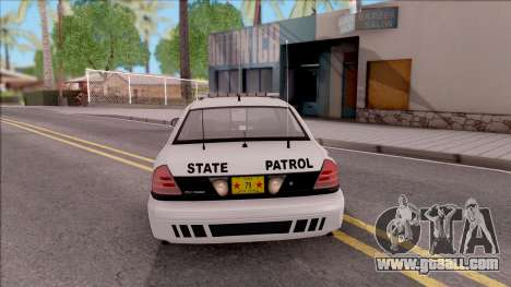 Ford Crown Victoria 2009 Iowa State Patrol for GTA San Andreas back left view