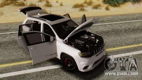 Jeep SRT 8 TrackHawk for GTA San Andreas back left view