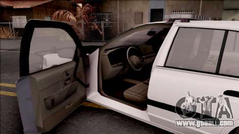 Ford Crown Victoria 2009 Des Moines PD for GTA San Andreas inner view