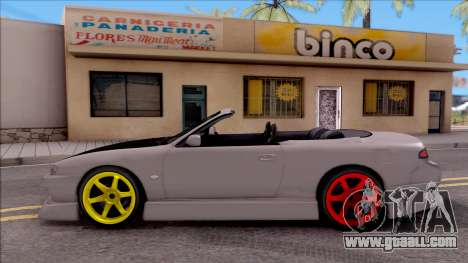 Nissan 200SX Cabrio Drift Monster Energy for GTA San Andreas left view