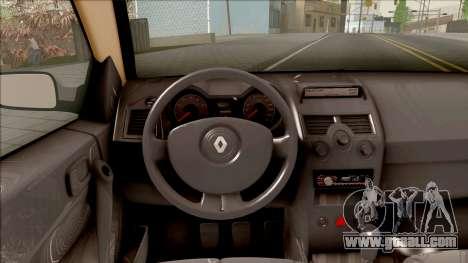 Renault Megane 2 HB Privilege for GTA San Andreas inner view