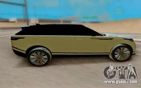 Range Rover Velar 2017 for GTA San Andreas left view