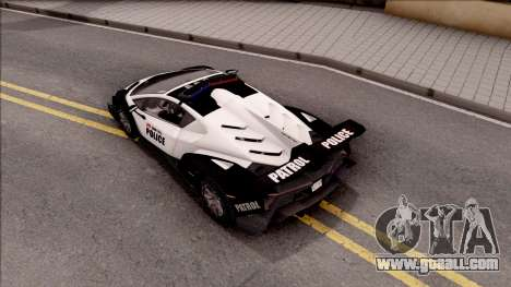 Lamborghini Veneno Police Los Santos for GTA San Andreas back view