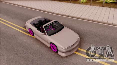 Nissan 200SX Cabrio Drift Monster Energy v2 for GTA San Andreas right view