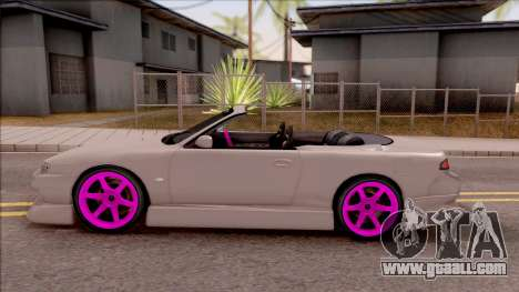 Nissan 200SX Cabrio Drift Monster Energy v2 for GTA San Andreas left view