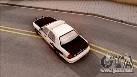 Ford Crown Victoria 2007 West Des Moines PD for GTA San Andreas back view