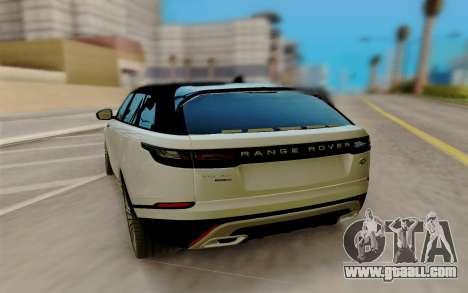 Range Rover Velar 2017 for GTA San Andreas back left view