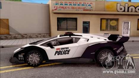 Lamborghini Veneno Police Los Santos for GTA San Andreas left view