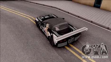 Chevrolet Corvette ZR1 Itasha JD Fate Apocrypha for GTA San Andreas back view
