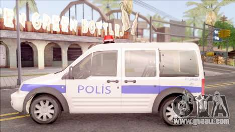 Ford Tourneo Connect 90PS Turkish Police for GTA San Andreas left view