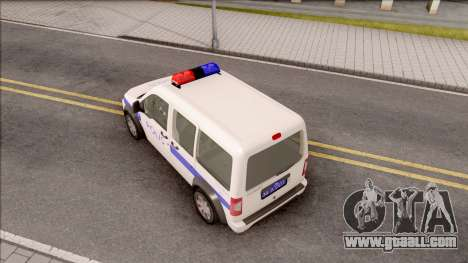 Ford Tourneo Connect 90PS Turkish Police for GTA San Andreas back view