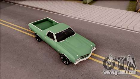 Chevrolet El Camino SS 1970 for GTA San Andreas right view