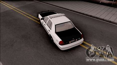 Ford Crown Victoria 2009 Des Moines PD for GTA San Andreas back view