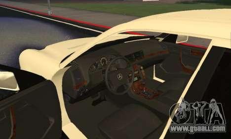 Mercedes-Benz E420 Armenian for GTA San Andreas inner view