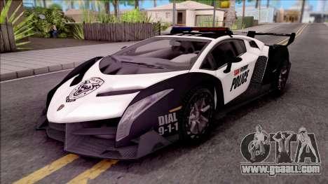 Lamborghini Veneno Police San Fierro for GTA San Andreas