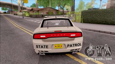 Dodge Charger 2012 Iowa State Patrol for GTA San Andreas back left view