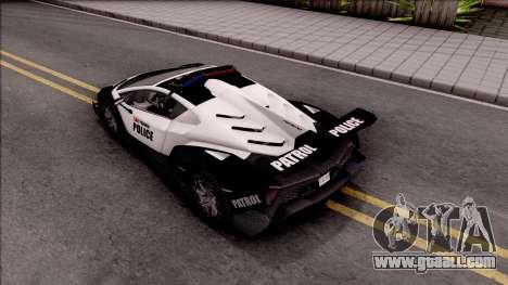 Lamborghini Veneno Police San Fierro for GTA San Andreas back view