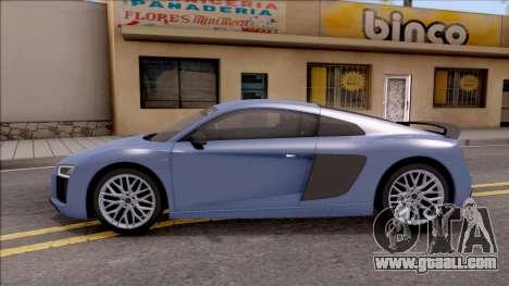 Audi R8 V10 Plus 2018 for GTA San Andreas left view