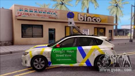 Subaru Impreza Google Street View Car for GTA San Andreas left view