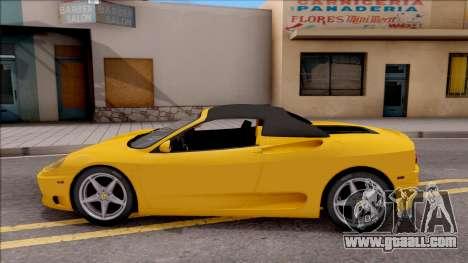 Ferrari 360 Spider US-Spec 2000 HQLM for GTA San Andreas left view