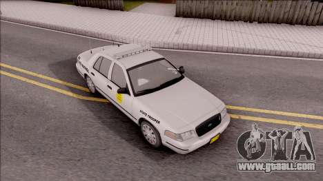Ford Crown Victoria 2009 Iowa State Patrol for GTA San Andreas right view