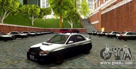 Subaru Impreza WRX STi 2004 Japanese Police for GTA San Andreas side view