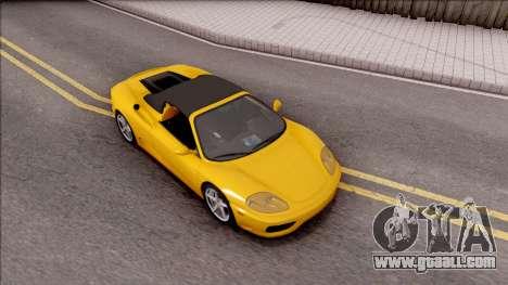 Ferrari 360 Spider US-Spec 2000 HQLM for GTA San Andreas right view