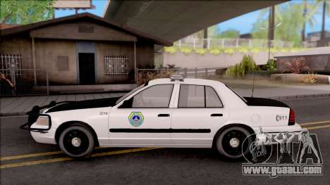 Ford Crown Victoria 2009 Des Moines PD for GTA San Andreas left view