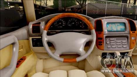 Toyota Land Cruiser 2005 for GTA San Andreas inner view