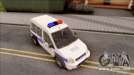 Ford Tourneo Connect 90PS Turkish Police for GTA San Andreas right view