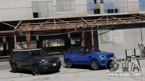 GTA 5 2014 Range Rover Sport SVR 5.0 V8 left side view