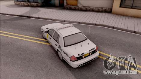 Ford Crown Victoria 2009 Iowa State Patrol for GTA San Andreas back view