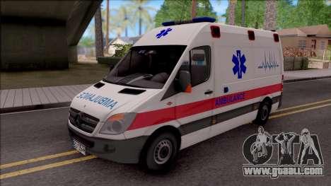 Mercedes-Benz Sprinter Hitna Pomoc for GTA San Andreas