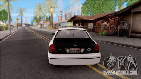 Ford Crown Victoria 2009 Des Moines PD for GTA San Andreas back left view
