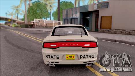 Dodge Charger Slicktop 2012 Iowa State Patrol for GTA San Andreas back left view