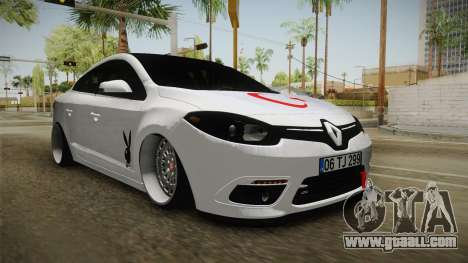 Renault Fluence PlayBoy for GTA San Andreas back left view