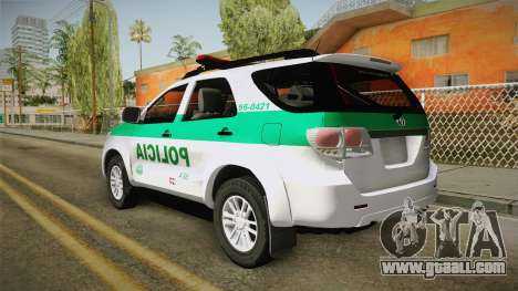 Toyota Fortuner Ponal Colombia for GTA San Andreas
