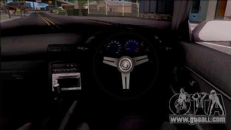 Nissan Skyline R32 Cabrio Drift Monster Energy for GTA San Andreas inner view