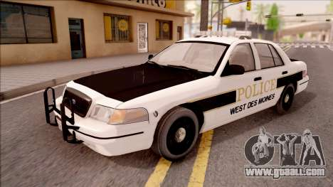 Ford Crown Victoria 2007 West Des Moines PD for GTA San Andreas