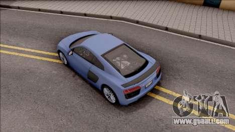 Audi R8 V10 Plus 2018 for GTA San Andreas back view