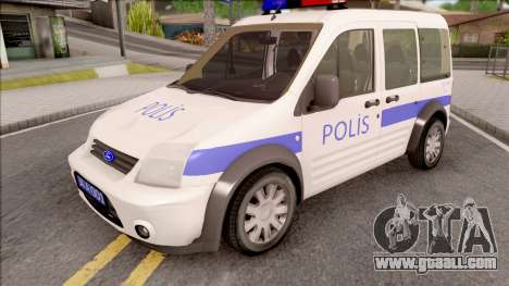 Ford Tourneo Connect 90PS Turkish Police for GTA San Andreas