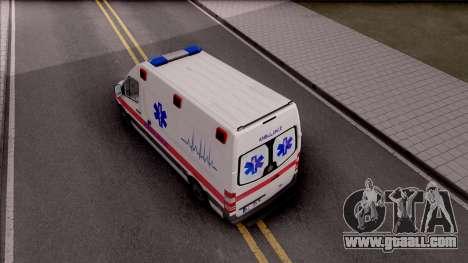 Mercedes-Benz Sprinter Hitna Pomoc for GTA San Andreas back view