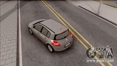 Renault Megane 2 HB Privilege for GTA San Andreas back view