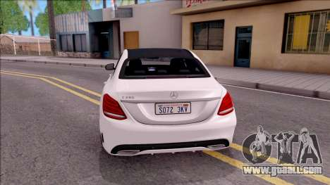 Mercedes-Benz C250 AMG Line for GTA San Andreas back left view