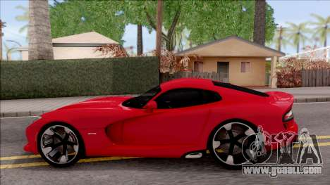 Dodge SRT Viper GTS 2012 for GTA San Andreas left view